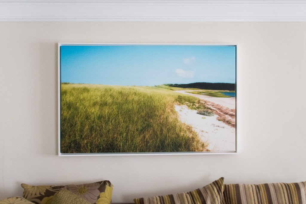 Photographic print on canvas, framed